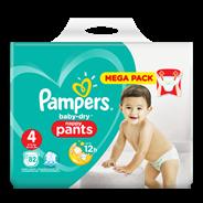 Pampers Baby-Dry Pants S4, 82 luierbroekjes