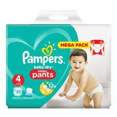 Pampers Baby-Dry Pants S4, 82 Luierbroekjes, Luchtdoorlatende Banen