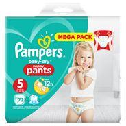 Pampers Baby-Dry Pants S5, 72 Luierbroekjes, Luchtdoorlatende Banen