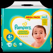 Pampers Premium Protection maat 4+, 10-15 kg, 72 luiers