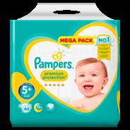 Pampers Premium Protection maat 5+, 12-17 kg, 66 luiers