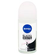 Nivea Invisible Black & White Clear anti-transpirant roller 50 ml