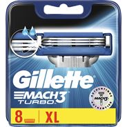 Gillette Mach3 Turbo Scheermesjes Voor Mannen, 8 Navulmesjes