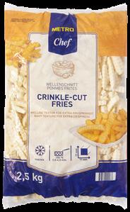 Metro Chef Frites Crinkle 2,5 kg