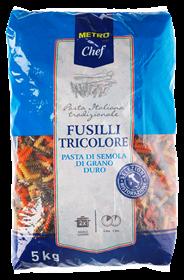 Metro Chef Fusilli tricolore 5 kg