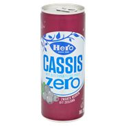 Hero Cassis zero blik 24 x 250 ml