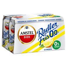 Amstel Radler fris 0.0% bier blik 6 x 33 cl