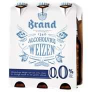 Brand Weizen 0.0 Alcoholvrij Bier Fles 24 x 30 cl