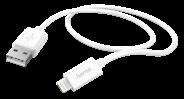 Hama 00173863 1m USB A Lightning Wit mobiele telefoonkabel