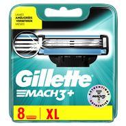 Gillette Mach3+ Scheermesjes Voor Mannen, 8 Navulmesjes