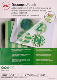GBC Document Lamineerhoezen A3 2x75 micron Glanzend (100)