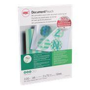 GBC Document Lamineerhoezen A4 2x75 micron Glanzend (100)