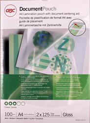 GBC Document Lamineerhoezen A4 2x125 micron Glanzend (100)