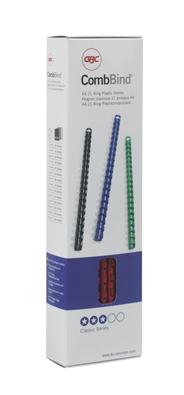 GBC CombBind Bindruggen Zwart 6mm (100)