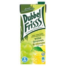 DubbelFrisss Witte druiven & citroen 8 x 1,5 liter