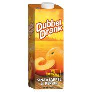 DubbelDrank Sinaasappel & Perzik 1 L