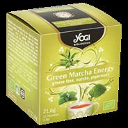 Yogi Biologisch Green Matcha Energy Groene Thee, Matcha, Pepermunt 12 Theezakjes 21,6 g