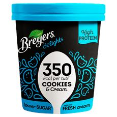 Breyers Lower Calorie & High Protein Ice Cream Cookies & Cream 500 ml