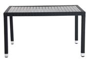 Metro Professional Tafel aluminium wicker 130 x 90 cm