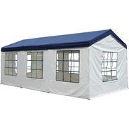 Tarrington House Paviljoen 3 x 6 meter + 4 zijwanden blauw/wit