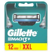 Gillette Mach3+ Scheermesjes Voor Mannen, 12 Navulmesjes
