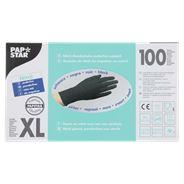 Papstar Handschoenen Nitril poedervrij zwart XL 100 stuks