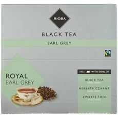 Rioba Zwarte Thee Royal Earl Grey (met envelop) 100 x 2 gram