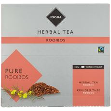 Rioba Kruidenthee Pure Rooibos (met envelop) 100 x 1,5 gram