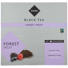 Rioba Zwarte Thee Bosvruchten (zonder envelop) 100 x 2 gram