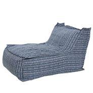Loungestoel Stof blauw