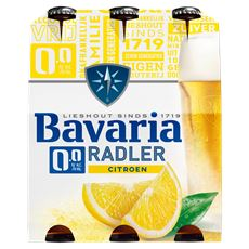 Bavaria 0.0% Radler Citroen Flessen 4 x 6 x 30 cl