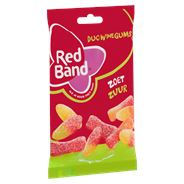 Red Band Duo winegums zoet zuur 12 x 166 gram