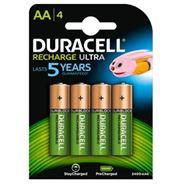 Duracell Recharge Ultra AA-batterijen, verpakking van 4
