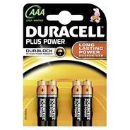 Plus Power alkaline batterij AAA, 4 stuks