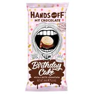 Hands Off My Chocolate Birthday cake white & milk
