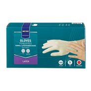 Metro Professional Latex handschoenen gepoederd wit S 100 stuks