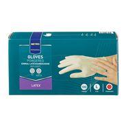 Metro Professional Latex handschoenen gepoederd wit L 100 stuks