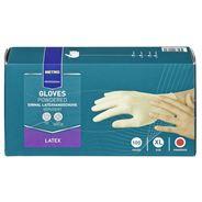 Metro Professional Latex handschoenen gepoederd wit XL 100 stuks