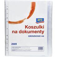 Aro Koszulki na dokumenty groszkowe A4 200 sztuk