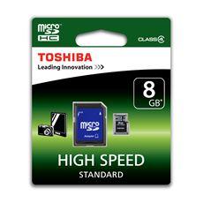 Toshiba Karta MicroSD 8 Gb + adapter