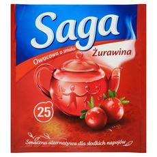 Saga Herbatka owocowa o smaku żurawina 45 g (25 torebek)