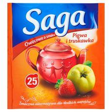 Saga Herbatka owocowa o smaku pigwa i truskawka 45 g (25 torebek)