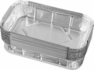 Alufix Box Foremka aluminiowa z pokrywką 650 ml 20 sztuk