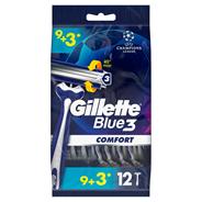 Gillette Blue3 SenseCare Jednorazowe maszynki do golenia, 12 szt.