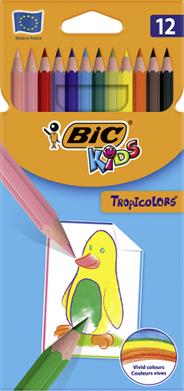 BiC Kids Tropicolors 2 Kredki 12 kolorów