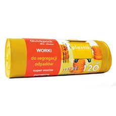 Quickpack Worki z uszami żółte 120 l 8 sztuk