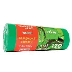 Quickpack Worki z uszami zielone 120 l 5 sztuk