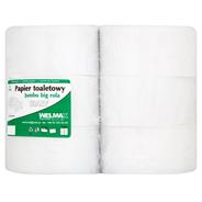 Papier toaletowy Jumbo big rola biały 1-warstwowy 6 rolek