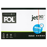 POL jet Papier do wydruków kolorowych czarno-białych i kopiowania A4 250 arkuszy