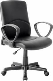 Sigma H-8522L Fotel skóropodobny czarny